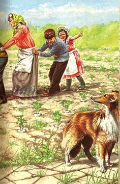 The Enormous Turnip Hello Lassie mind lending us your paw? Ladybird Books, Tall Tales, Fairy Tales, My Favorite Things, Book Illustrations, Grande, Russia, Legends, Kindergarten