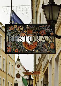 Restaurant sign - Tallinn, Estonia by Edward Covello. Our tips for things to do in Tallinn: http://www.europealacarte.co.uk/blog/2011/08/02/tallinn-guide/