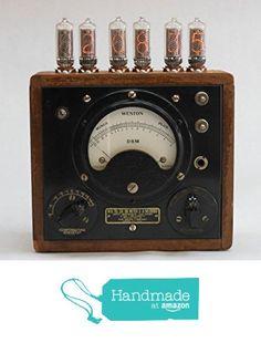 Nixie Clock from JAWoodwork https://www.amazon.com/dp/B01G14VBFG/ref=hnd_sw_r_pi_awdo_Cz5GxbYMJR6YW #handmadeatamazon
