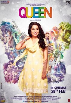 Queen is a 2014 Bollywood coming-of-age comedy-drama. The story is about a middle class Indian girl in Rajouri Garden, Delhi, who decides to go on her honeymoon to Paris and Amsterdam alone, after her walks out of the marriage two days before wedding. Taare Zameen Par, Lisa Haydon, Hindi Bollywood Movies, Bollywood Posters, Bollywood News, Bollywood Theme, Bollywood Masala, Bollywood Wedding, Movies 2014