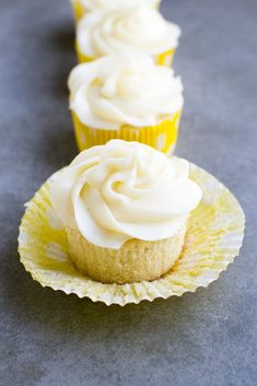 Lemon Cupcakes with Cream Cheese Frosting - Stuck On Sweet