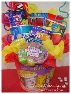 Custom Movie Bucket Gift Basket