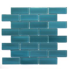 tile border... dare i consider such a bold color to tile the bottom half of walls with??