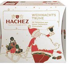HACHEZ Weihnachts-Truhe feine Vollmilch-Täfelchenim Test