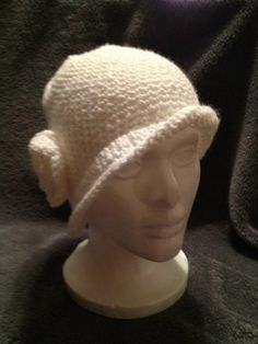 HandCrochet White Flapper hat by kElaineBoutique on Etsy, $25.00