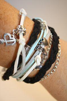 de la boutique AteliersTaffetas sur Etsy Suede, Boutique, Etsy, Bracelets, Leather, Jewelry, Art, Fashion, Teen