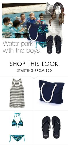 """REQUESTED: Waterpark with the boys"" by style-with-one-direction ❤ liked on Polyvore featuring J.Crew, Abercrombie & Fitch, Ray-Ban and one direction 1d niall horan liam payne harry styles zayn malik louis tomlinson"