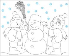 winter color painting for kıds Preschool Worksheets, Preschool Activities, Free Coloring Pages, Coloring Books, Color By Number Printable, Thanksgiving Coloring Pages, Winter Colors, Christmas Colors, Adult Coloring