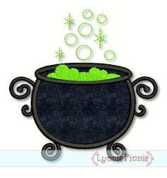 Witch's Cauldron Applique