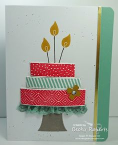 Inking Idaho: Build a Birthday Control Freaks Swap Homemade Greeting Cards, Stampin Up Catalog, Craft Club, Card Tags, Paper Cards, Baby Cards, Stampin Up Cards, Quilting Designs, Making Ideas