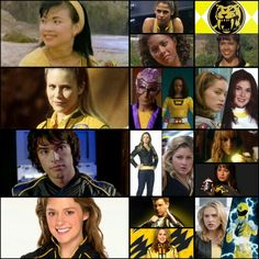 Trini Kwan, Thuy Trang, Yellow Ranger, Sabertooth Tiger, Mighty Morphin Power Rangers, Aisha Campbell, Karan Ashley, Tanya Sloan, Nakia Burrise, Ashley Hammond, Tracy Lynn Cruz, Kelsey Winslow, Sasha Williams, Katie Walker, Deborah Estelle Phillips, Elizabeth Z Delgado, Monica May, Lily Chilman, Anna Hutchison, Summer Landsdown, Rose McIver, MMPR, Alien Rangers, Zeo, Turbo, In Space, Lost Galaxy, Lightspeed Rescue, Time Force, Wild Force, Ninja Storm, Dino Thunder, S.P.D., Mystic Force…