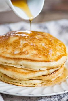 Sourdough Pancakes {For The Absolutely Fluffiest Pancakes . Blueberry Sourdough Pancakes With Sourdough Starter Recipe . Sourdough Pancakes {For The Absolutely Fluffiest Pancakes . Home and Family Dough Starter Recipe, Sourdough Starter Discard Recipe, Bread Starter, Starter Recipes, Sourdough Pancakes, Sourdough Recipes, Pancakes And Waffles, Cooking Pancakes, Cooking Bread