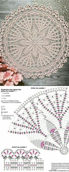 Free Crochet Doily Patterns, Crochet Mat, Crochet Dollies, Crochet Circles, Thread Crochet, Filet Crochet, Crochet Flower Tutorial, Crochet Decoration, Crochet Tablecloth