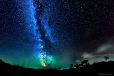 Milky Way Galaxy, Eerie Airglow Paint Night Sky Amazing Colors