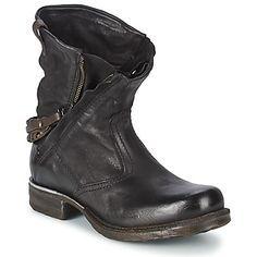 Boots Airstep / A.S.98 SAINT METAL ZIP Schwarz - Kostenloser Versand bei Spartoo.de ! - Schuhe Damen 159,20 €