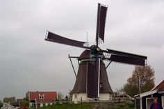 windmill on a small farm near the community of Akersloot in Holland