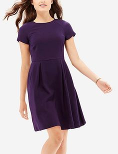 Colorful Fit & Flare Dress from THELIMITED.com