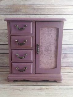 Jewelry Box Violet Vintage Chic Up Cycled Eco Friendly READY TO SHIP - pinned by pin4etsy.com