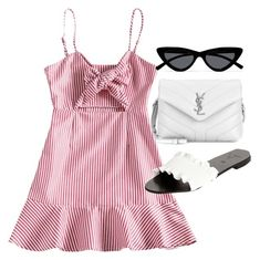 """Untitled #23681"" by florencia95 ❤ liked on Polyvore featuring Yves Saint Laurent, Victor and Le Specs"