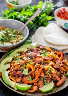 Delicious Pork Fajitas just like the restaurant favorite, with delicious pork tenderloin. Incredibly tasty bound to satisfy even the picky eaters.