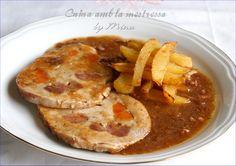 Lomo De Cerdo Mechado Con Salsa Al Oporto Y Jamón...