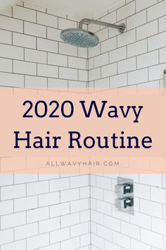 An easy four step hair routine for wavy hair. This routine works well for and wavy hair, but can be easily modified for and curly hair! Only 4 steps, easy and affordable budget friendly hair routine. This 2020 hair routine is a must read for wavies! Wavy Hair Tips, Wavy Hair Care, Curly Hair Routine, Long Wavy Hair, Hair Care Routine, Curly Hair Styles, Natural Hair Styles, Natural Wavy Hairstyles, Funky Hairstyles