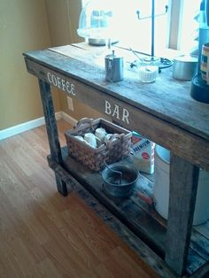 Coffee bar made from pallets