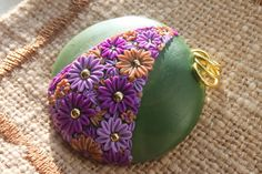 Polymer Clay Flowers in Moss Green by Cherrychestnuts on Etsy, $20.00