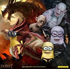 Hobbit Minions ~ Smaug, Gollum, Azog