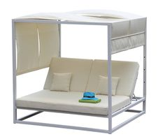 The Keanae Daybed. White Daybed. Metal Frame Daybed. Simple daybed. Modern Daybed. Vegas pool daybed. San Diego Daybed