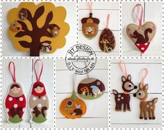 Y Wool Felt Kits * Jit Design A world of handmade happiness * Fabric Ornaments, Felt Christmas Ornaments, Felt Templates, Penny Rugs, Xmas Crafts, Cool Things To Make, Wool Felt, Arts And Crafts, Quiet Books
