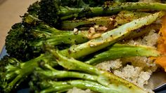 Ina Garten's Parmesan Roasted Brocolli. Really the only way to eat brocolli.