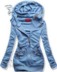 Sweatjacke baby blue D407