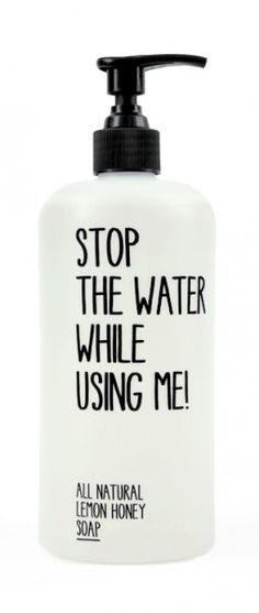 """Love the idea of this brand! All natural, organic and every label is the same """"stop the water while using me"""". I'm turning into a total greenie.... see what the west side of WA has done to me!!"""