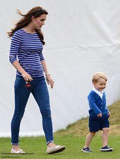 czerwiec 2015 - Księżna Kate: Kate bierze Prince George do obejrzenia William grać w polo