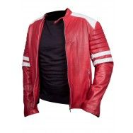 Fight Club Red and Black Jacket are made for man's it make's man look mature and attractive. We have Sheep-hide #leatherjackets have a look yourself  www.styloleather.com