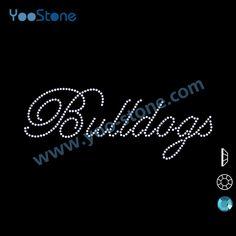Free Shipping 20 Pcs Lot New Products On China Market Bulldog Rhinestone  Transfer For Sports t Shirts e32917abd48b