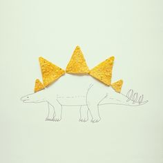 Javier Perez's photos take random objects and turn them into little pieces of illustrated art. Check out this Doritos Dinosaur!