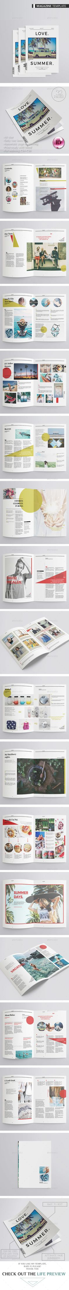 Multipurpose Magazine 32 pages Template 	InDesign INDD. Download here: https://graphicriver.net/item/multipurpose-magazine-32-pages/17300923?ref=ksioks