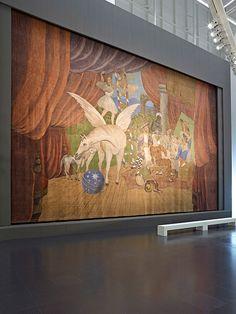 """Pablo Picasso: Bühnenvorhang für das Ballett """"Parade"""", 1917"""