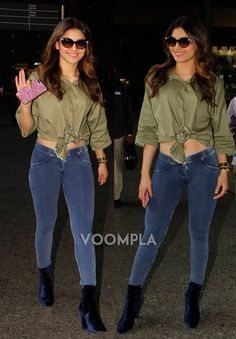 Sexy jeans! Urvashi Rautela rocks her casual look at Mumbai airport. Click Here >> Voompla.com