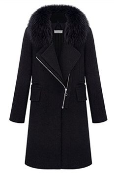 b2fd64a4421 Pink Wind Women Winter Fur Collar Ove...  69.99 Plus Size Business