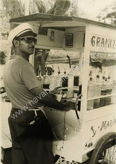 Cuba Havana Granizado Street Vendor Photo 1959