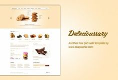 Delecioussary and Cookies Website Template