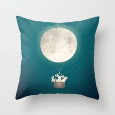 Buy moon bunnies by Laura Graves as a high quality Throw Pillow. Worldwide shipping available at Society6.com. Just one of millions of products available.