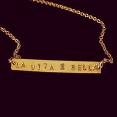 Life Is Beautiful Necklace (gold vermeil)