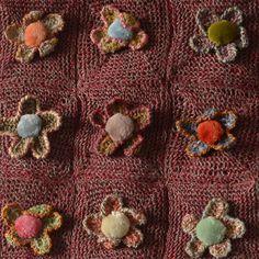 """Petite écharpe lin au crochet de Sophie Digard """"fleur sauvage velours"""""""
