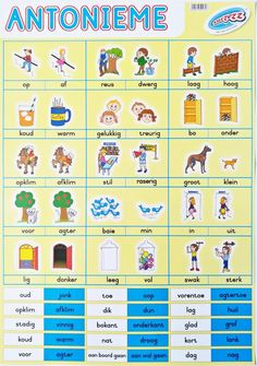 Frog Nursery, Afrikaans Language, Teaching Posters, Life Hacks For School, Kids Learning Activities, Toys Online, Kids Education, Educational Toys, Vocabulary