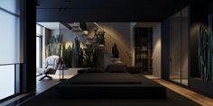 Interior Design Magazine, Interior Design Services, Home Living Room, Living Room Designs, Exterior Design, Interior And Exterior, Dark Interiors, Dream Apartment, Loft