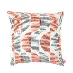 "Cushion Cover - ""Sway"" in signal / steel - by Skinny laMinx #DiggiDot"